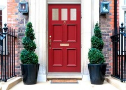 Red front doors offer the warmest welcome says research