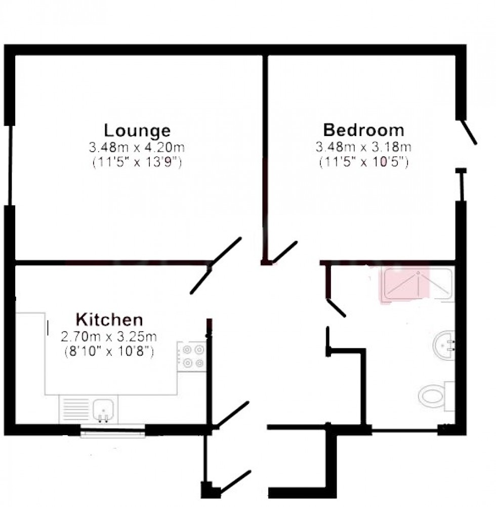 Floorplan for Silchester Road, Pamber Heath, Tadley